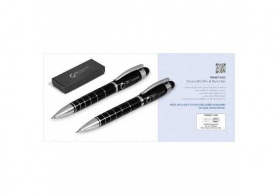 Corona Ball Pen & Pencil Set
