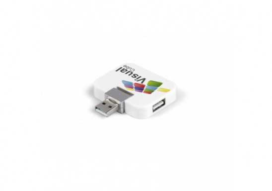 Quadratic USB Hub - White