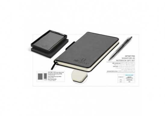 Signature A5 Notebook Set - Black
