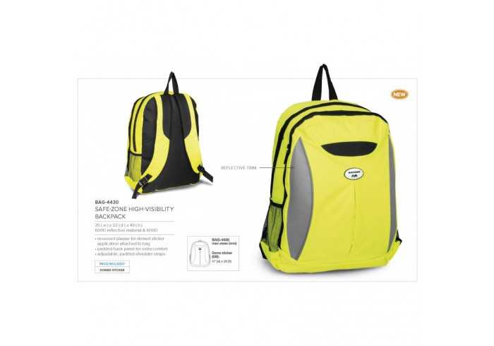 Safe Zone High Visibility Backpack - Yellow