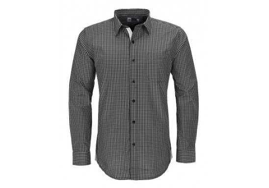 US Basic Kenton Mens Long Sleeve Shirt - Black