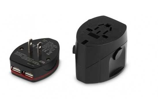 Connexions World Travel Adaptor - Black
