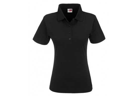 US Basic Ladies Cardinal Golf Shirt - Black