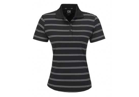Cutter And Buck Hawthorne Ladies Golf Shirt - Black