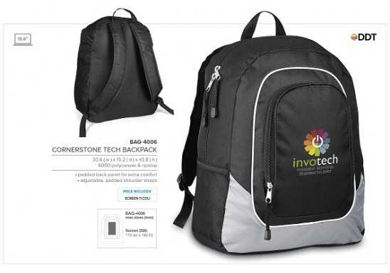 Cornerstone Tech Backpack - Grey