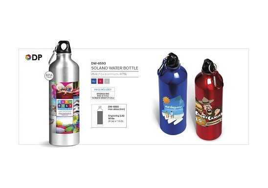 Solano Water Bottle - 750Ml - Silver