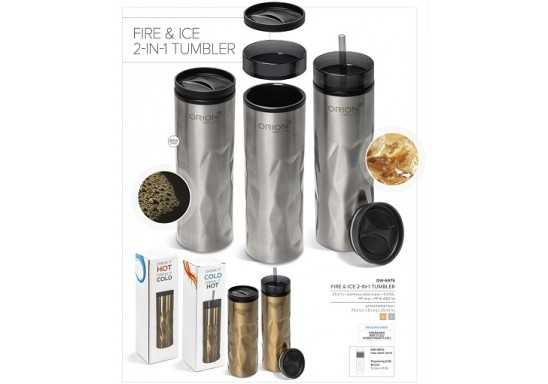 Fire & Ice 2-In-1 Double Wall Tumbler - 435Ml