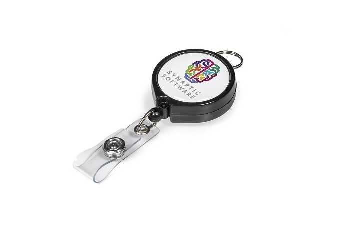 Klasp Badge Reel - Black