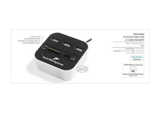 Podium Usb Hub & Card Reader