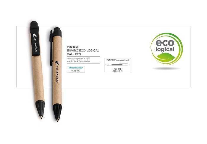 Enviro Eco-Logical Pen - Black