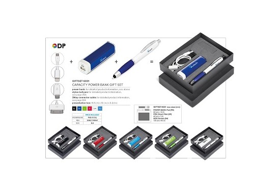 Capacity Power Bank Gift Set (Incl 3-Way Connector)