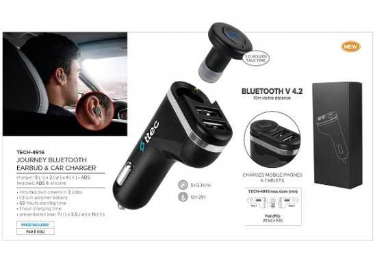 Journey Bluetooth Earbud And Car Charger