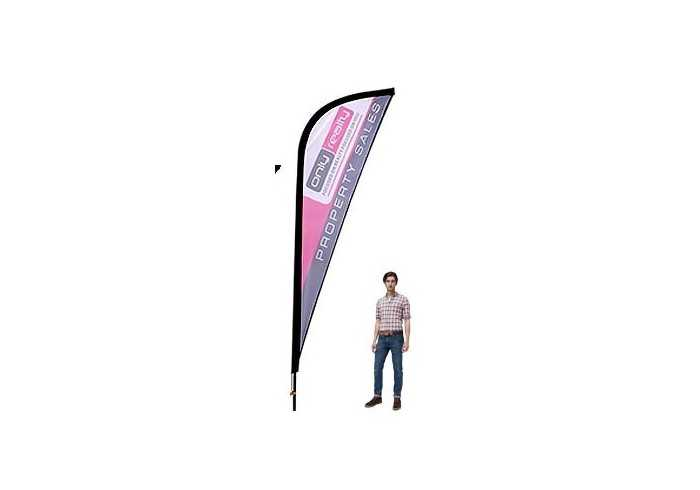 Sharkfin Banners-4m Single Sided