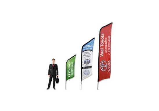 Curved Banners- 2m  Single Sided