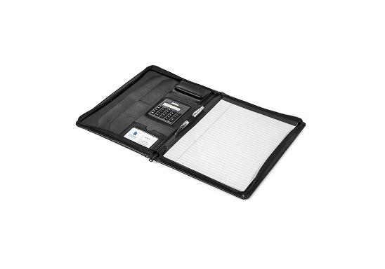 Brookstone A4 Zip-Around Folder - Black