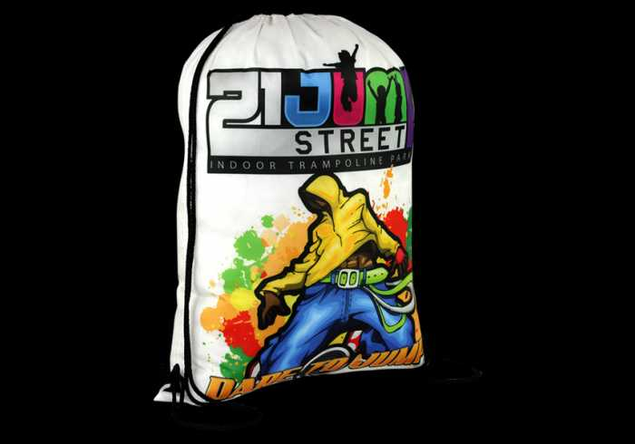 Vibrant Drawstring Bag with Full Colour