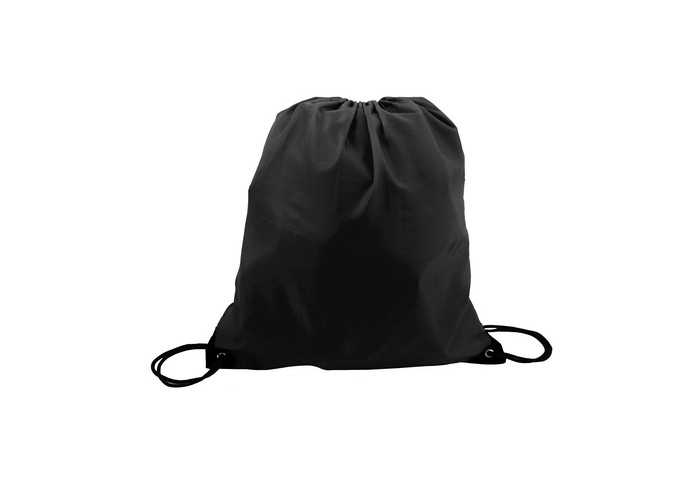 Mini 210D Poly Drawstring Bag - Black