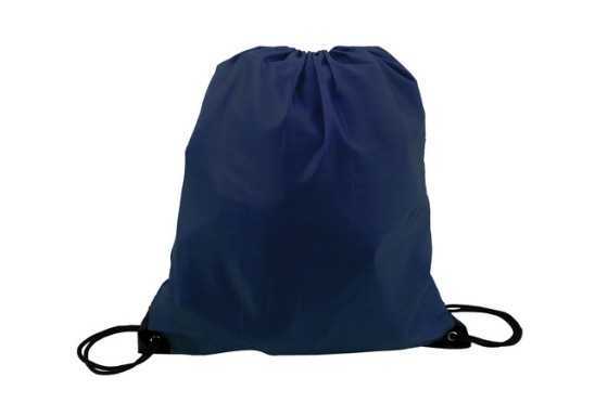 Mini 210D Poly Drawstring Bag - Navy