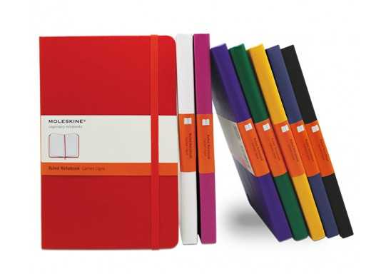 Moleskin A5 Hard Cover Lined Notebook