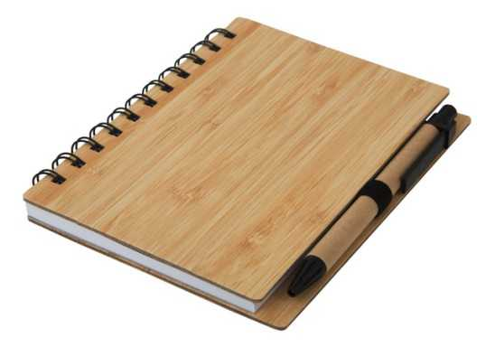 Wood Mid-Size Notebook & Pen
