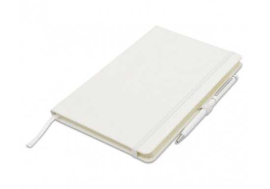 Discovery A5 Notebook with pen loop - White