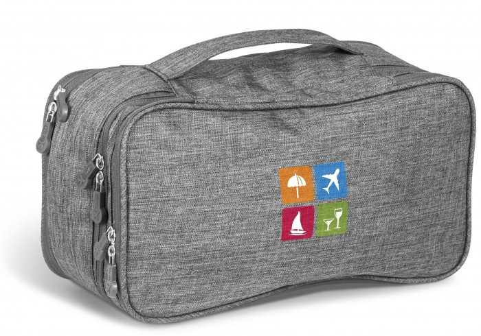 Santa Monica Deluxe Toiletry Bag - Grey