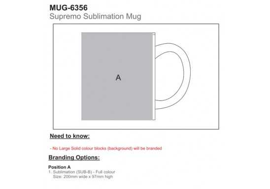 Supremo Sublimation Mug - Branding Guidelines