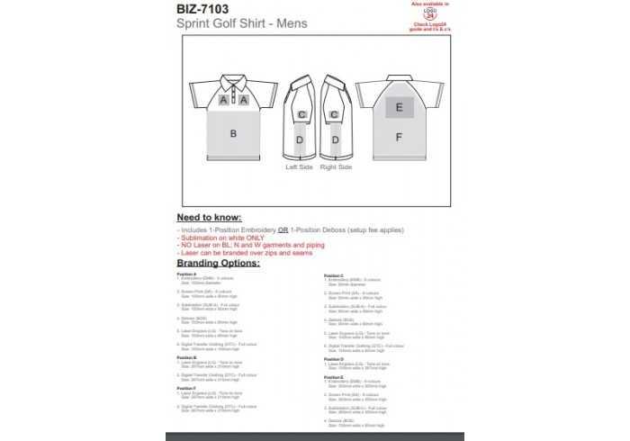 Mens Sprint Golf Shirt - Inter Branding SA