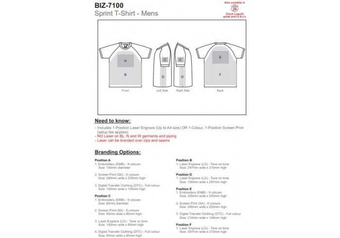 Mens Sprint T-Shirt - Inter Branding SA