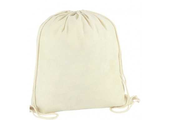 Cotton Drawstring Bag with 1 col