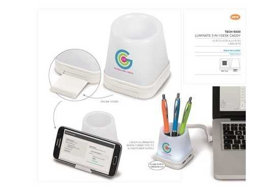 Luminate 3-In-1 Desk Caddy