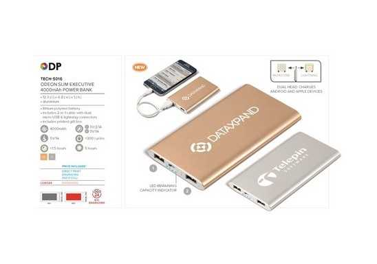 Odeon Slim Executive 4000mAh Power Bank