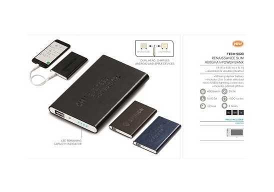 Renaissance Slim 4000mAh Power Bank