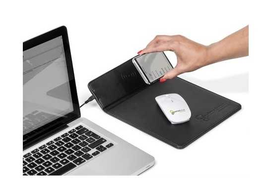 Ashburton Mousepad With Wireless Charger - Black