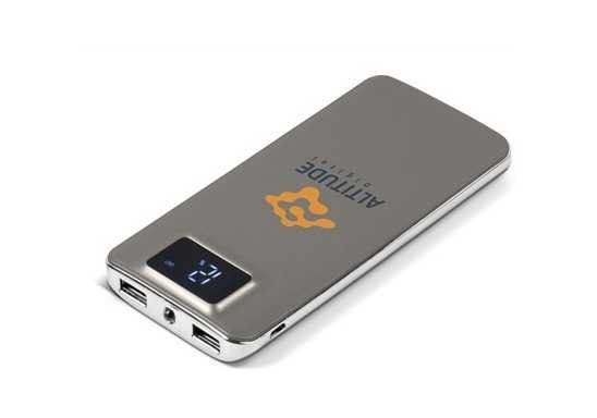 Sapphire 10000mAh Power Bank And Torch - Grey