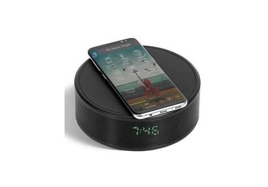 Prime Wireless Charger, Bluetooth Speaker And Clock Radio - Black
