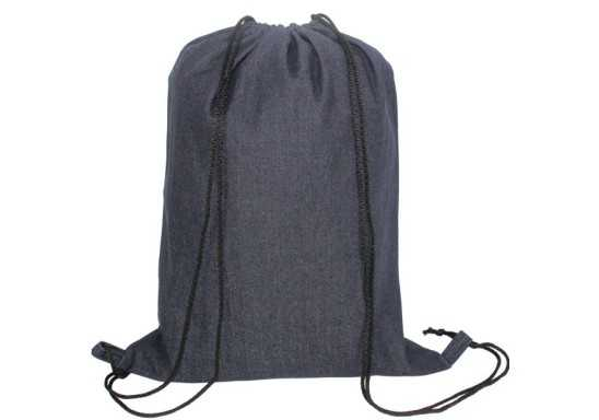 Nava Denim Drawstring Bag
