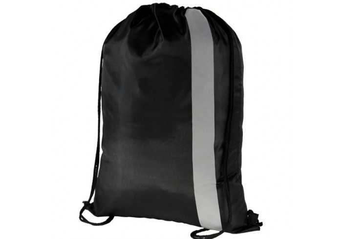 Spot On Reflective Drawstring Bag - Black