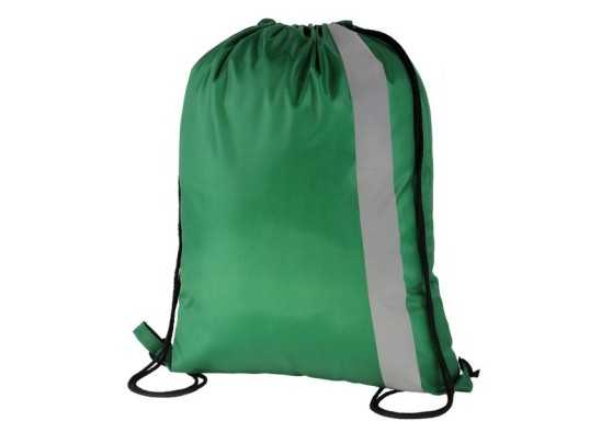 Spot On Reflective Drawstring Bag - Dark Green
