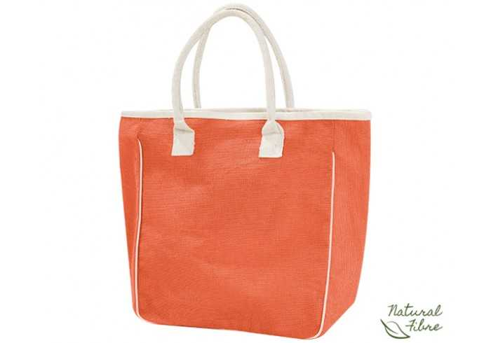 Ecojute Jamaica Natural Fibre Bag - Orange