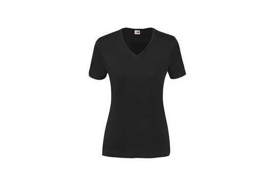 US Basic Ladies Super Club 165 V-Neck T-Shirt - Black