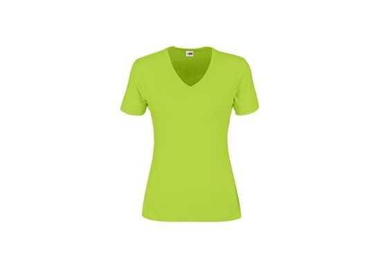 US Basic Ladies Super Club 165 V-Neck T-Shirt - Lime