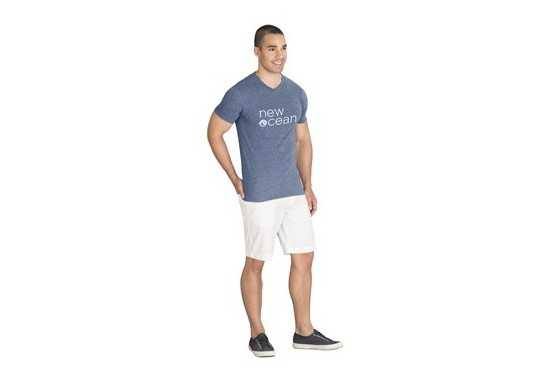 US Basic Mens Michigan Melange V-Neck T-Shirt