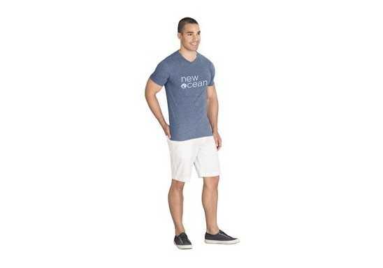 US Basic Mens Michigan Melange V-Neck T-Shirt