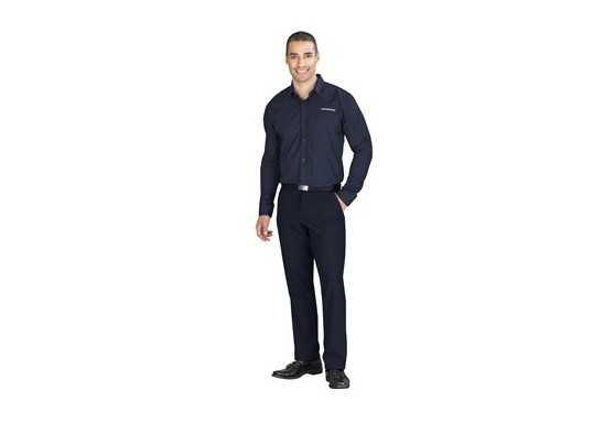 US Basic Mens Long Sleeve Warrington Shirt