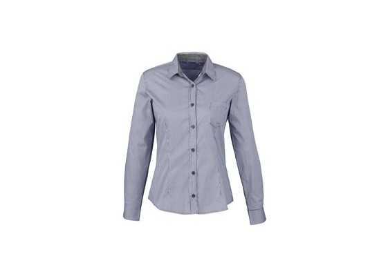 US Basic Ladies Long Sleeve Coventry Shirt - Navy