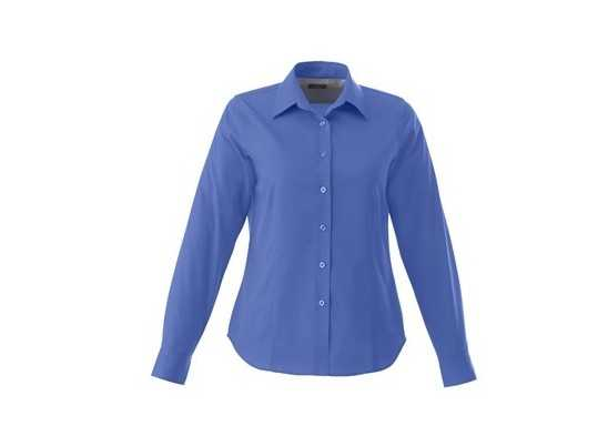 Elevate Ladies Long Sleeve Wilshire Shirt - Blue