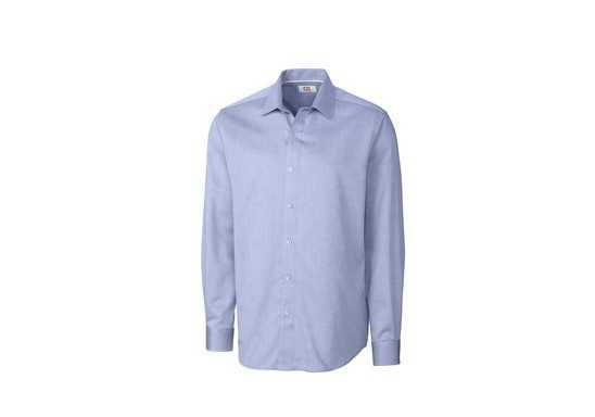 Cutter & Buck Mens Long Sleeve Claremont Shirt - Blue