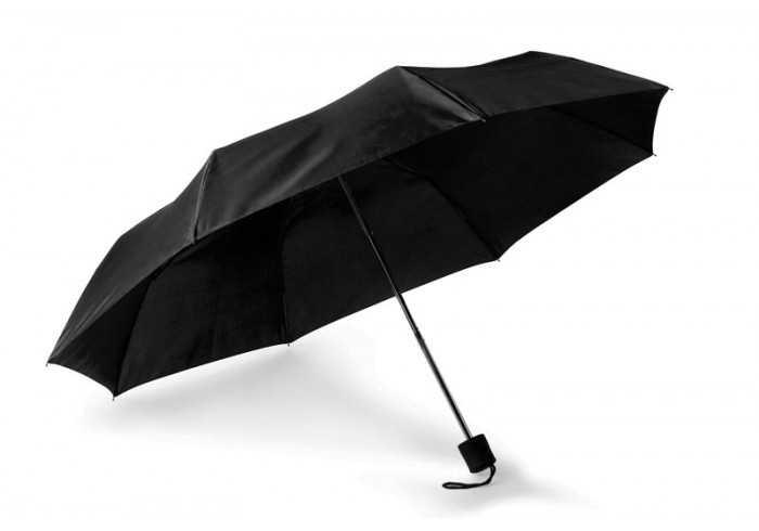 8 Panel Baton Umbrella - Black