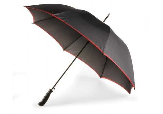 8 Panel Contrasting Edge Umbrella - Red